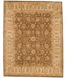 RugStudio presents Due Process Peshawar Tehran Brown-Cream Hand-Knotted, Best Quality Area Rug